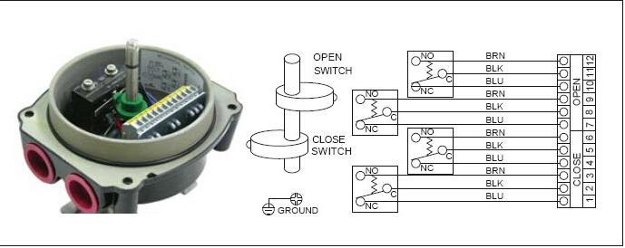 气动电磁阀接线图