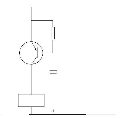 能否利用电容,三极管,电阻,开关,非延时继电器来制作一个通电延时电路