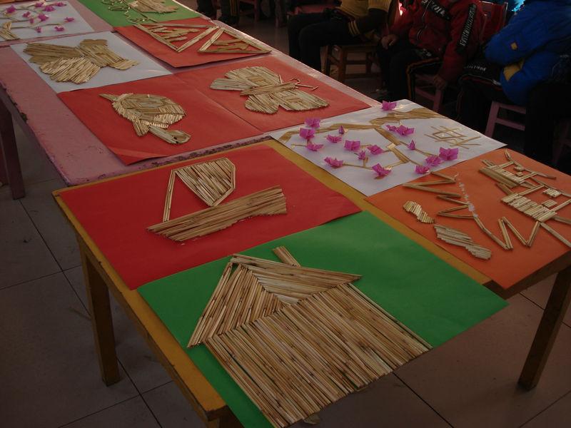 幼儿园用麦杆的手工制作图片