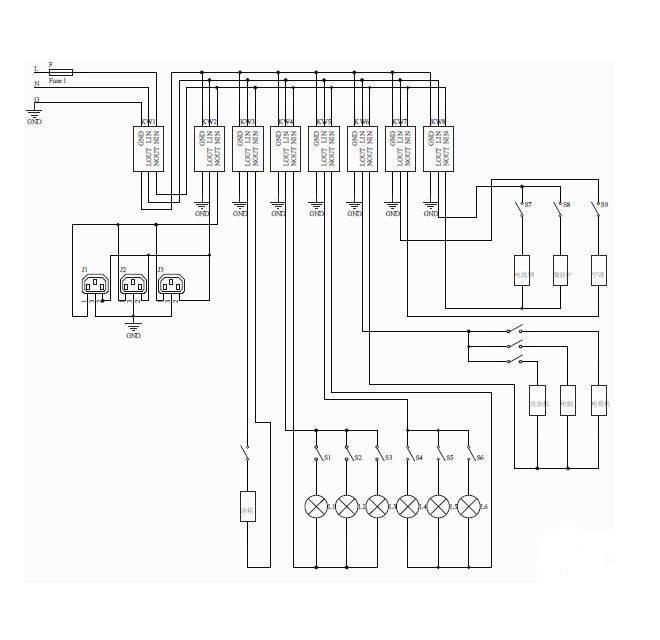 求助家庭电路的简单电路图,要画出图来,不用太复杂,初二用的,谢谢!