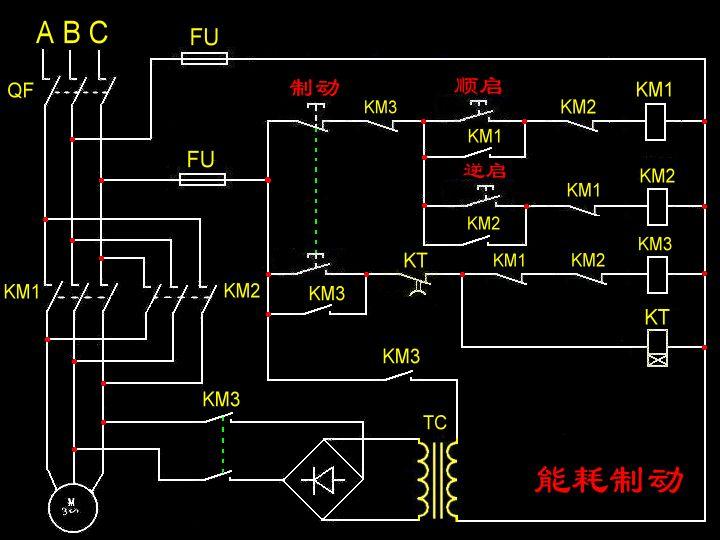 三相异步电动机(带刹车)的电路图···(我要的