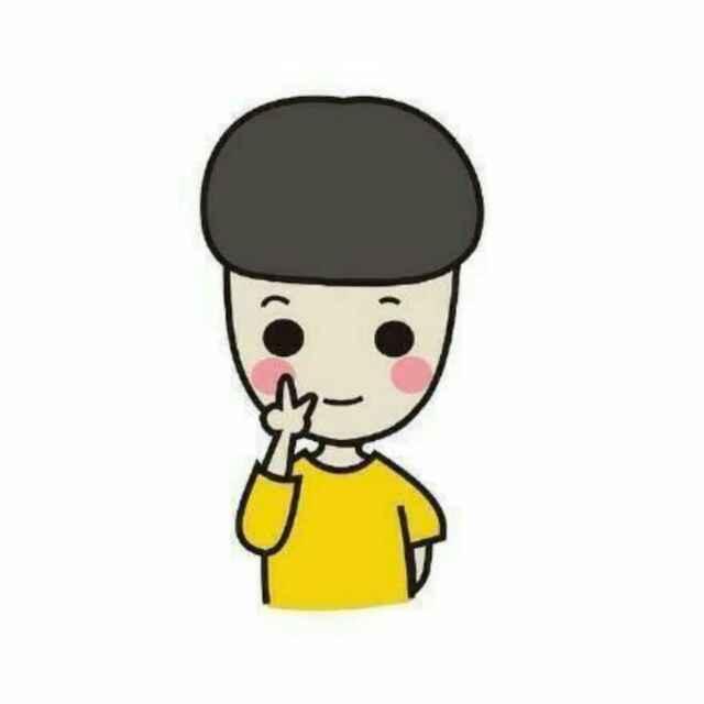 有一对卡通情侣头像,黄色衣服,v字手势,一个男孩一个女孩 ,谁有?急!