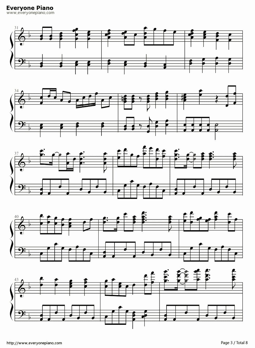 求千本樱键盘钢琴乐谱图片