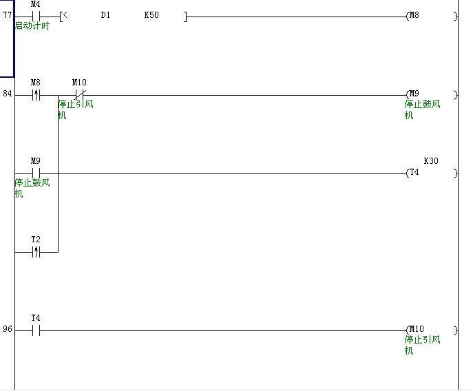 三菱fx2n系列plc,解释 如图所示的梯形图?尤其是m8和t