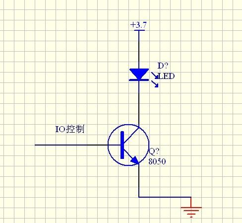 我用一个这样的电路io口控制一8050驱动一led灯 电流不够