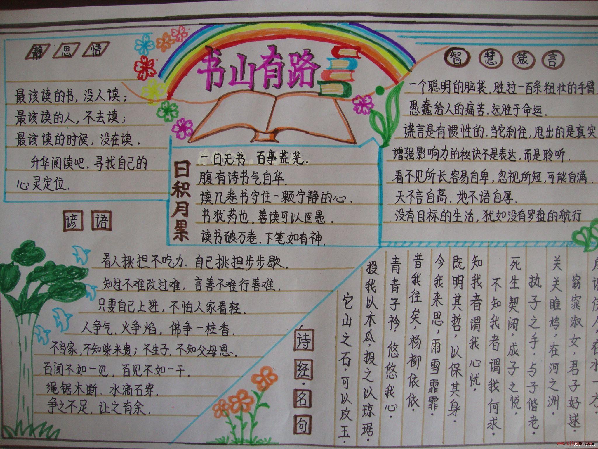 手抄报:我爱语文(要图片)