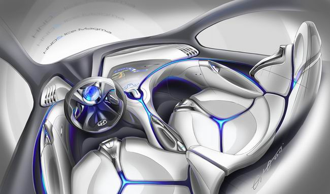 汽车内饰设计图手绘