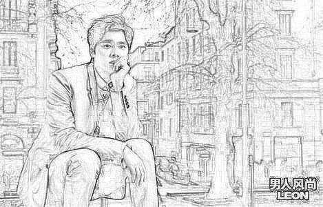 李易峰素描,最简单的图片