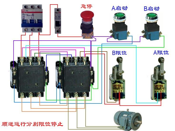 电机正反转用限位开关控制怎么接