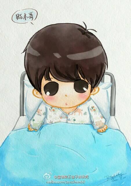 求动漫男生躺在病床上虚弱的图片,最好是手绘的,当然不是手绘的也行