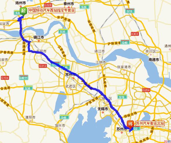 扬州到苏州汽车要多久