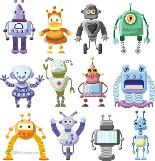 可爱的机器人简笔画大全