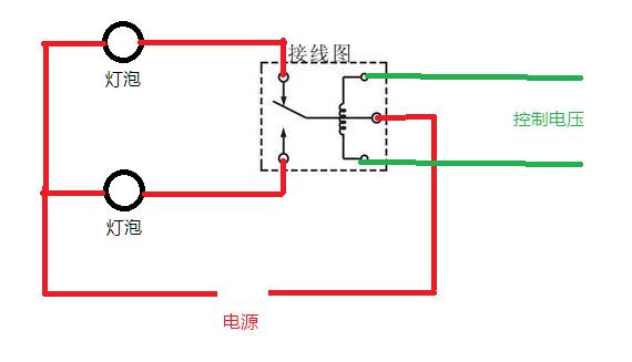 连接第二路的电路板 类似双控开关 或者五脚继电器