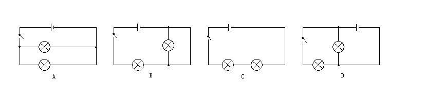 那两个灯泡不就都亮了吗,还有d,如果用电器短路是指导线直接连接在用