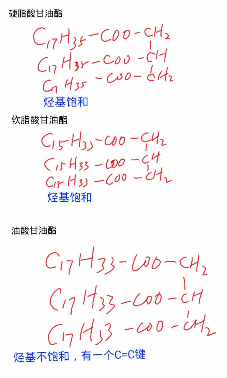 什么是硬脂酸甘油酯 油酸甘油酯 软脂酸甘油酯_百度