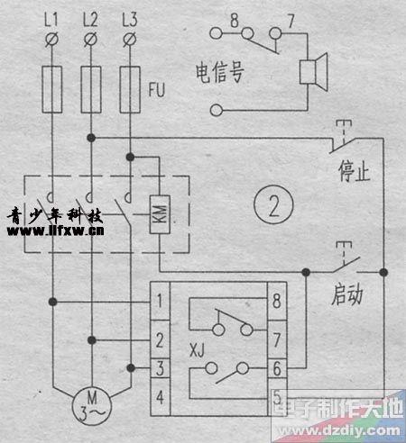 三相电缺相保护电路(电路图)