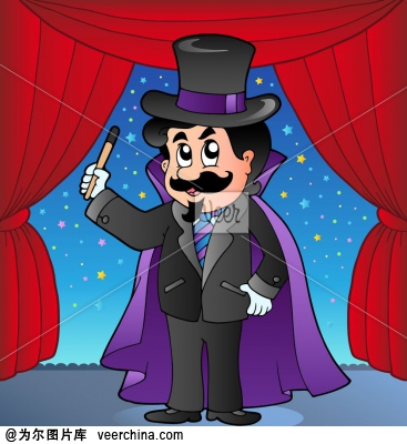 魔术师卡通图片