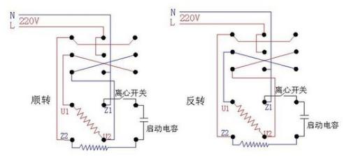 三档电机 直接用倒顺开关怎么接线图