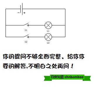 现有一个电池组,两个小灯泡l1和l2,两个开关s1和s2,导线若干.