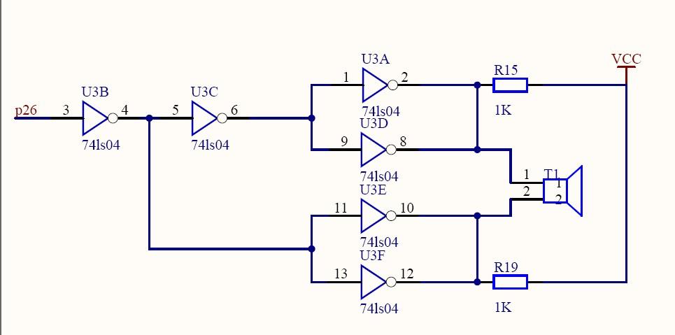 超声波测距发射电路采用74ls04,发射声波的电压要多高