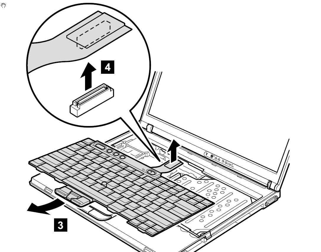 ibm笔记本电脑键盘怎么装