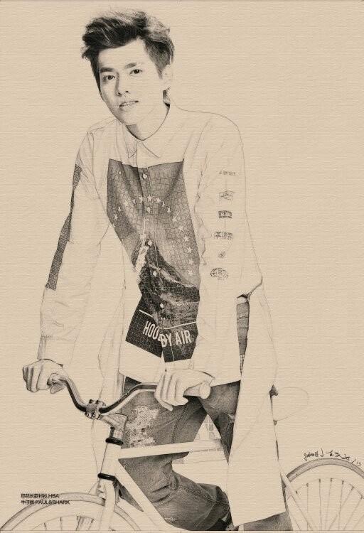 吴亦凡的铅笔画