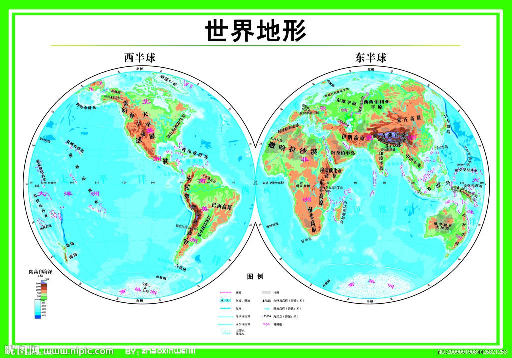 发个世界地图也行,要清楚点的