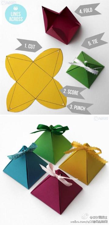 怎样制作简单手工折纸盒步骤图解