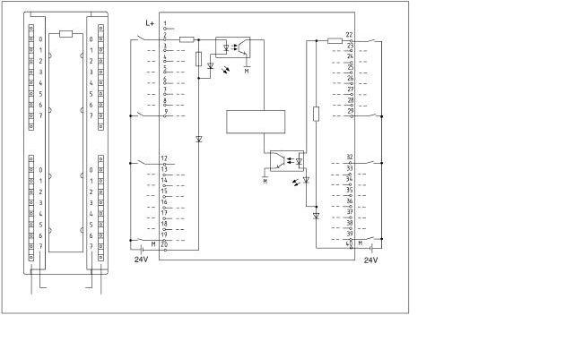 西门子s7-300plc和i/o口的接线图
