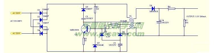 5伏充电器电路图