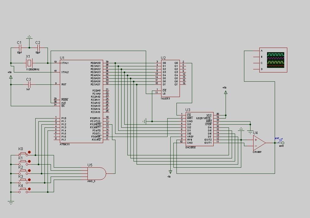 基于单片机的波形发生器设计,做出来之后用示波器测不
