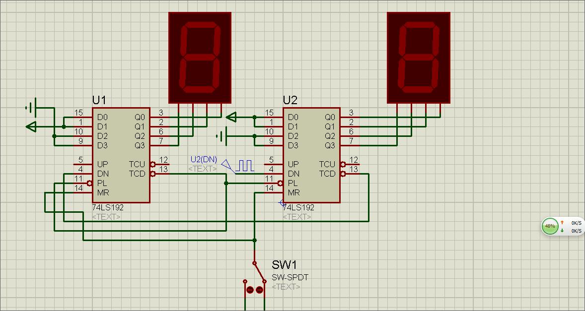 2个74ls192和一个74ls00怎么构成24进制计数器(有原理