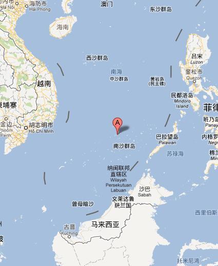 东距中洲礁约3.1海里(约6公里),东距敦谦沙洲约7.