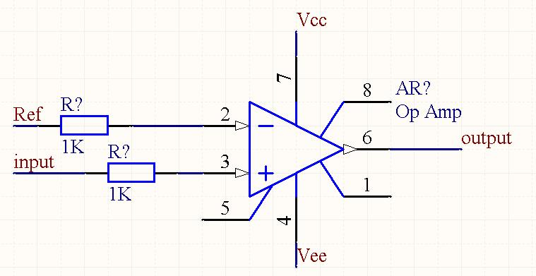 怎么把运放器ua741改成电压比较器
