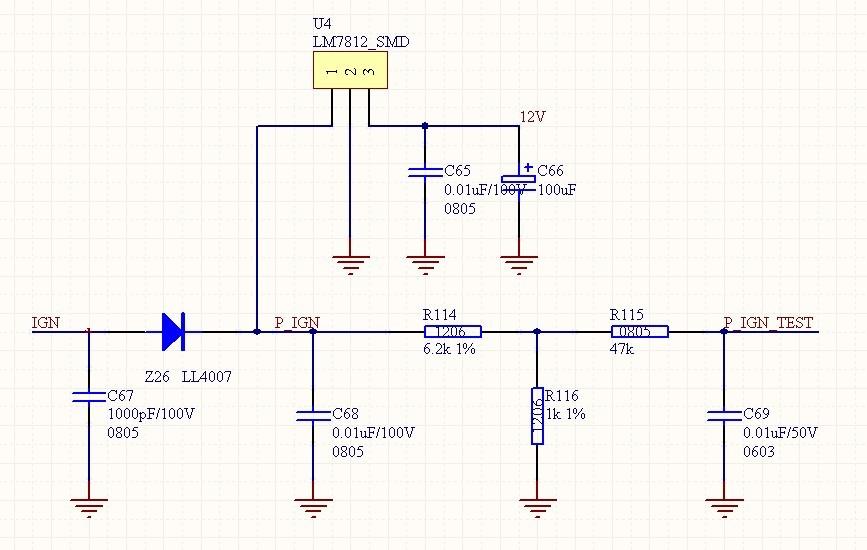 这是一汽车仪表电路图中的部分电路图,请问这两个电路