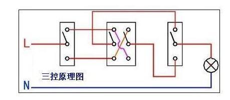 三控开关接线图