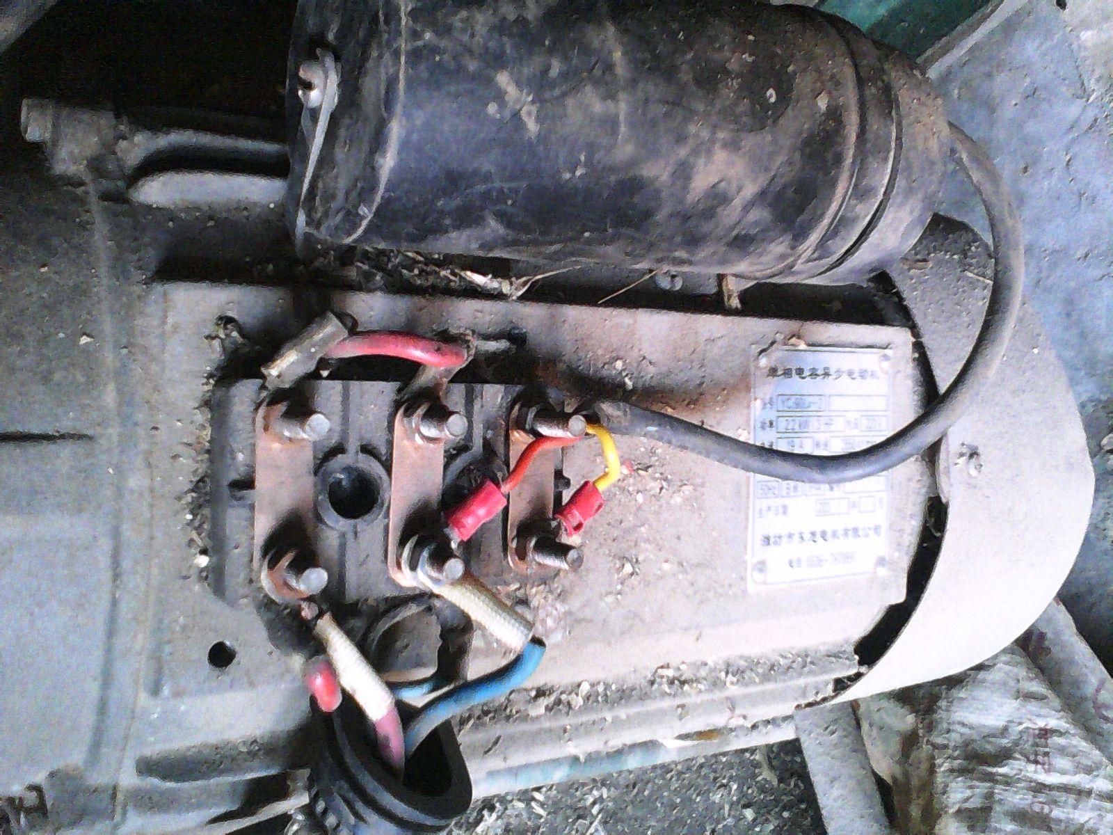 单相单值电容异步电机6个接线柱接线(电容)方法求助-型号yc2 90l4-2