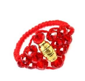 转运珠加珠子的戒指或手链编发 最好是戒指加珠子的菱形编发