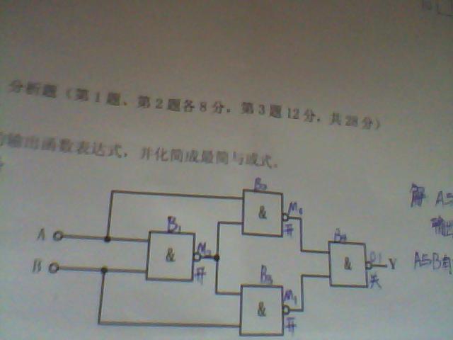 30 写出组合逻辑电路的输出函数表达式,并化简成最简与或式 圆珠笔是