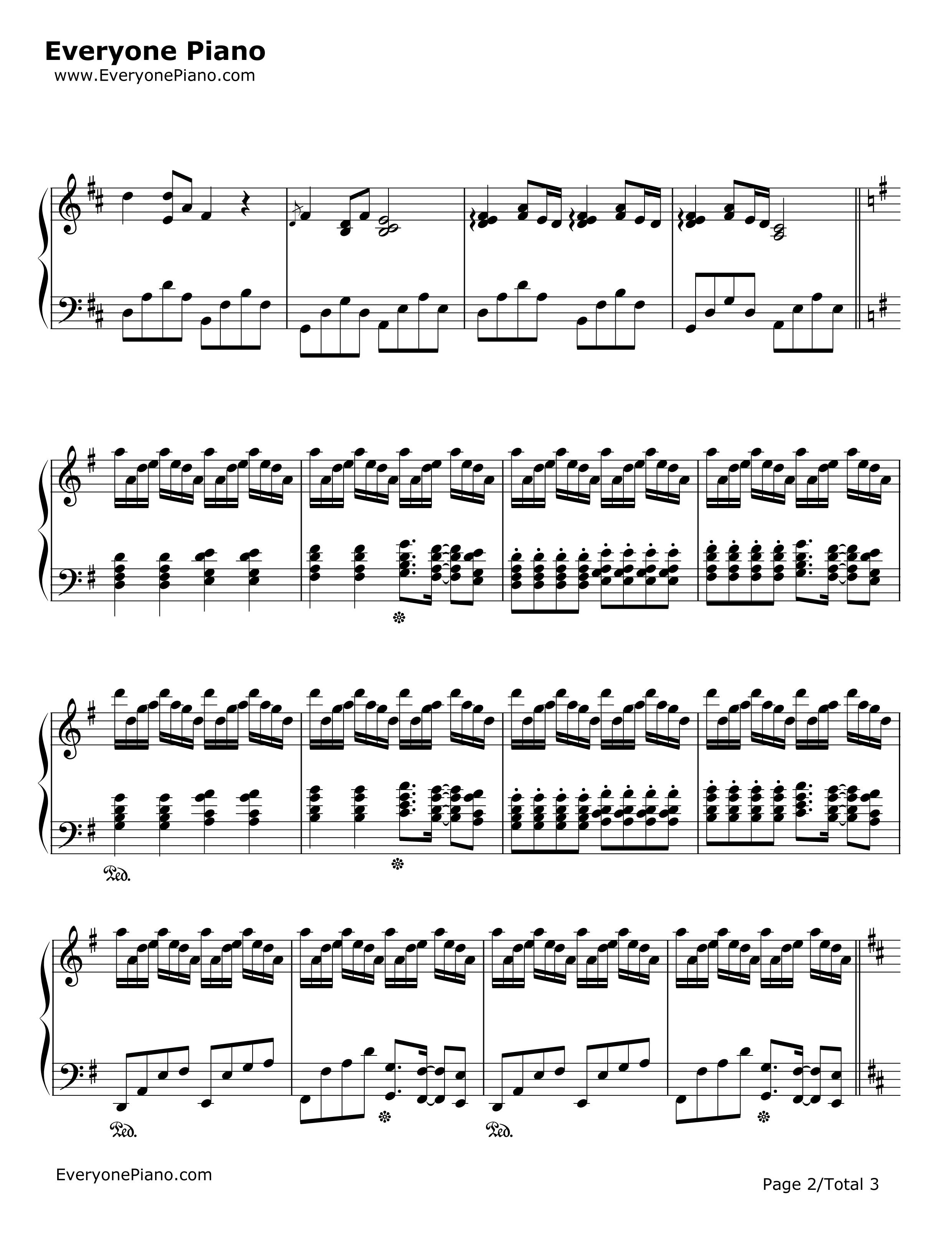 钢琴曲summer完整的谱子,不用简谱