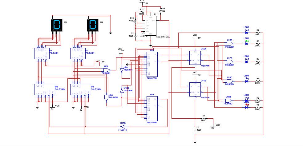 为什么我用multisim仿真时这个电路图数码管不显示数字?