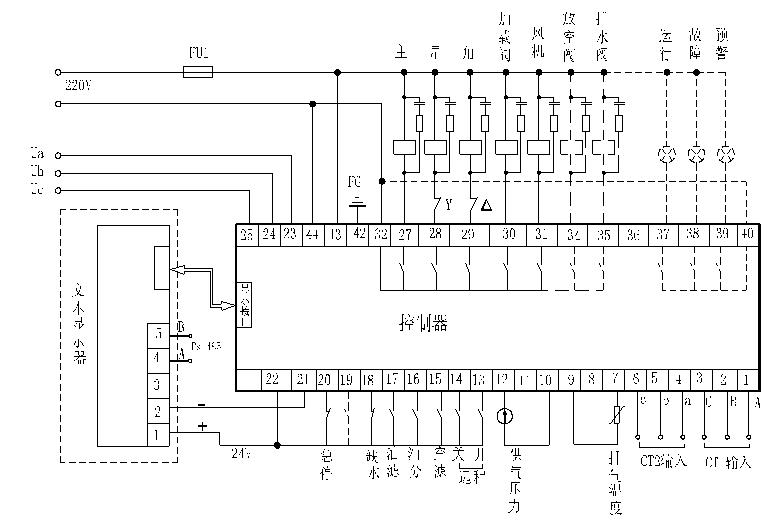 螺杆空压机主控接线图.型号mam-ky12s.采用必重谢!