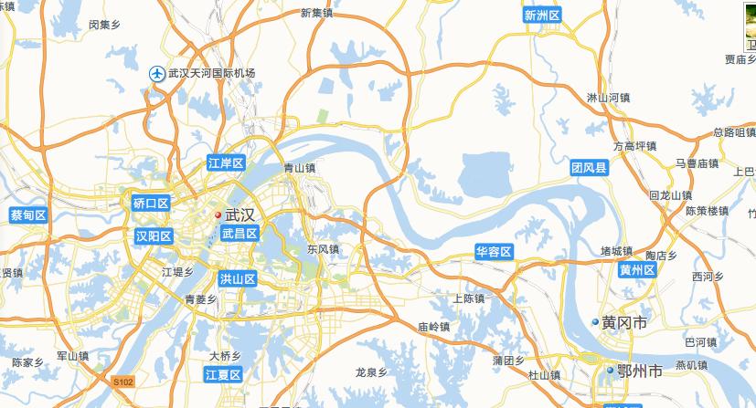 中国地图中湖北武汉和安徽合肥地址图片