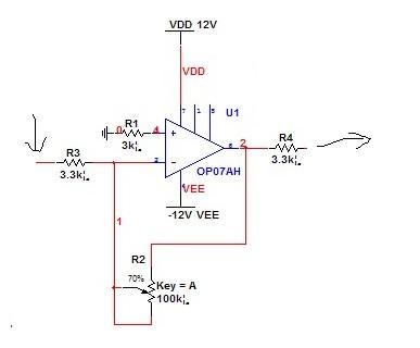 用op07设计一个放大电路,放大倍数为40倍.谢谢!