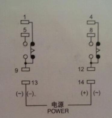 欧姆龙时间继电器h3y-2座怎么接线,找高手指点一下