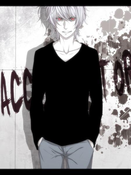 求一张男生黑白动漫图片,要全身像,帅气的,最好能颓废