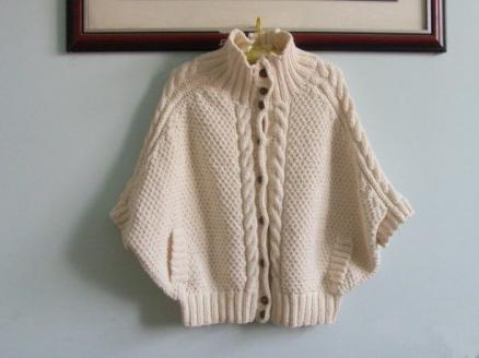 平针蝙蝠袖毛衣编织方法图解