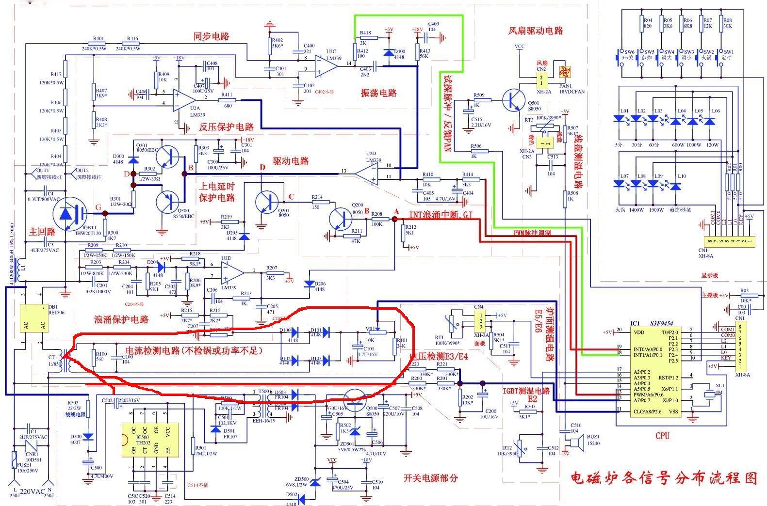 检查电流检测电路.