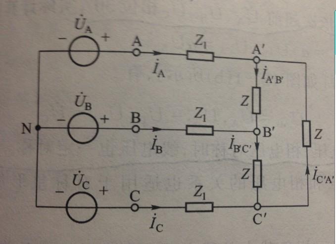 三相电路中线电压和相电压的疑问