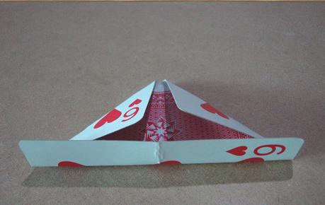 怎样用纸折花瓶 图解